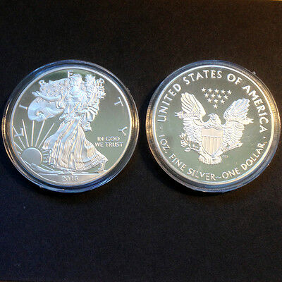1oz Commemorative Silver Plated Coin -- 2016 American Eagle Coin