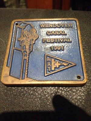 Brass Plaque Narrowboat Houseboat