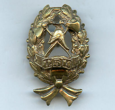 Imperial Russia Fire Society Badge Firefighters Nice Grade Rare !!!