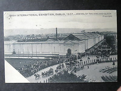 Irish International Exhibition, Dublin, 1907. Arrival Of King & Queen. Posted.