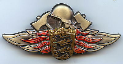 Germany Wurttemberg Firefighter Cap Badge High Condition !!!