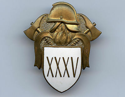 Estonia Post WWII 35 Years of Service Firefighters Badge Nice Grade !!!!!