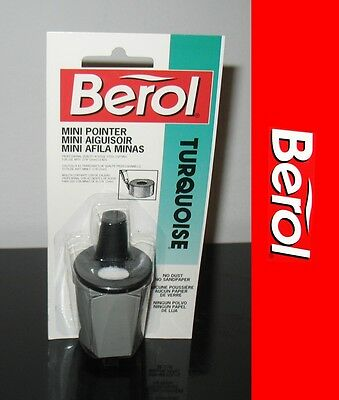 New 1992 Berol Turquoise Mechanical pencil lead sharpener .078 2mm Mini pointer