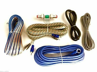 8 Gauge Amp Kit 1000 Watts Car Amplifier Power Wiring Install Subs