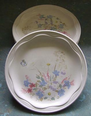 Six Bread & Butter Side Plates - English Poole Springtime Oven to Tableware