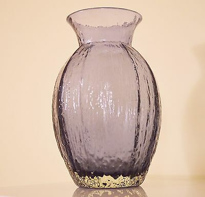 MASSIVE RARE Whitefriars Art Glass Baxter Textured Range Tulip Vase In LILAC