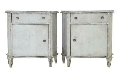 Pair 19Th Century Swedish Bedside Cabinets