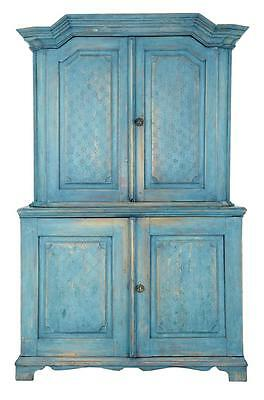 19Th Century Swedish Painted Kitchen Cabinet Cupboard