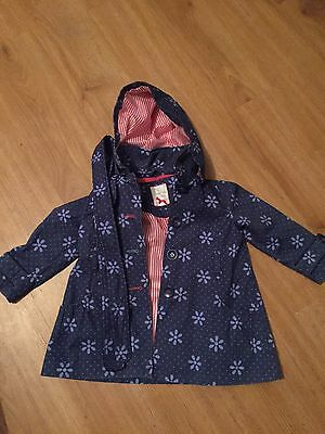 Girls 2 Years Bhs Blue Floral Rain Mac