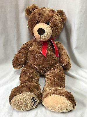 "Carter's Classics Teddy Bear Christmas Red Bow Brown Soft Plushie 20"" Animals"