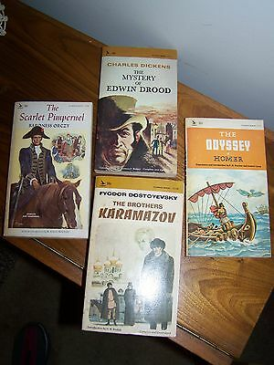 "Vintage Airmont Paperback Books Classic Series 1960""s Lot of 4"