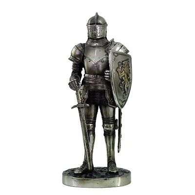 Knight 7 Tall Fort Keep Sentry Guard Statue Suit Of Armor Free Gift Of Pendant