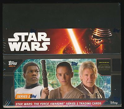 2 BOX LOT 2016 Topps Star Wars The Force Awakens Series 2 Retail SEALED (24-pk)