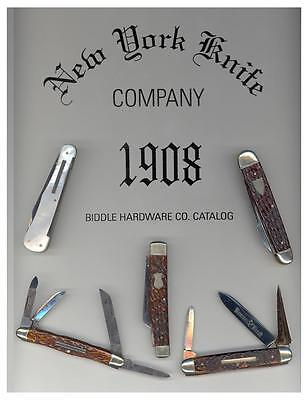 New York Knife Company 1908 Catalog Reprint Revised With New Color Photos