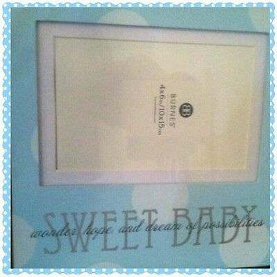 Blue Baby Sweet Baby 4x6 Picture Frame Wonder.Hope.And dream of possibilities