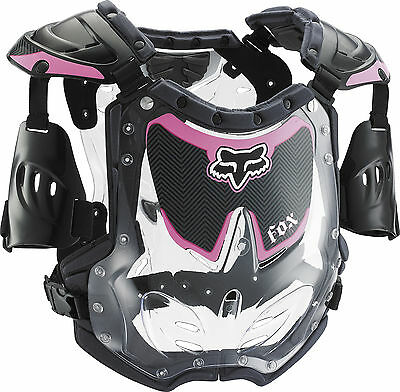 Fox Racing R3 Girls Youth Chest/Roost Guard/Protector Black/Pink Motocross MX