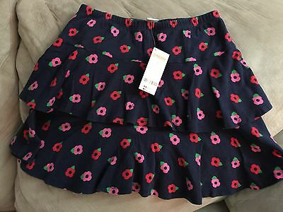 """NWT Gymboree """"Brightest in Class"""" Floral Tiered Skort Size 12"""
