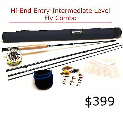 FLY FISHING COMBO HI END - 5/6 wt Trout - COMPLETE KIT Rod Reel Line flies