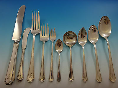Lady Constance by Towle Sterling Silver Flatware Set Service Dinner F Monogram