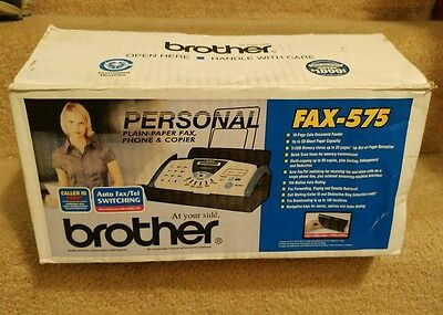 BRAND NEW FREE SHIPPING BROTHER FAX-575 Personal Plain Paper Fax, Phone & copy