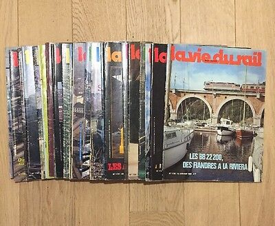 Lot 22 Magazines La Vie Du Rail 1980 Trains Chemins De Fer