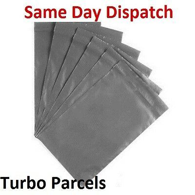 """30 Grey 10 X 14"""" Mailing Plastic Postage Poly Post Strong Bags Mail Sacks TP-71"""