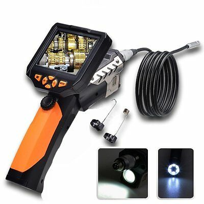 """3.5"""" LCD Inspection Camera Adjustable 8.2 mm Borescope Endoscope Scope 3M Cable"""