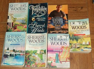 "SHERRYL WOODS ""ROMANCE"" PAPERBACK COLLECTION - Lot of 7 - Great Reading"