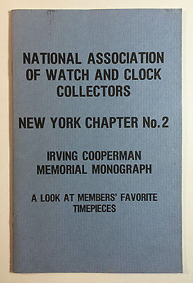 Members' Favorite Timepieces, NAWCC NY Chapter No. 2, Irving Cooperman, 1978