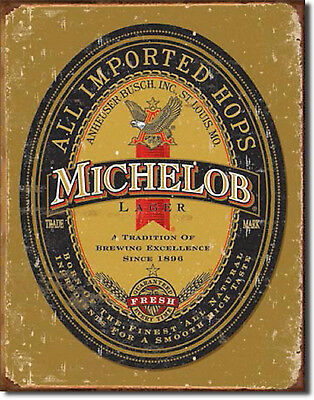 """""""Michelob"""" Anheuser Busch Beer, Tin Sign, for the Bar, Pub, or Man Cave"""