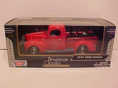 1940 Ford F-1 Pickup Tow Truck Wrecker Die-cast 1:24 Motormax 8 inch Red