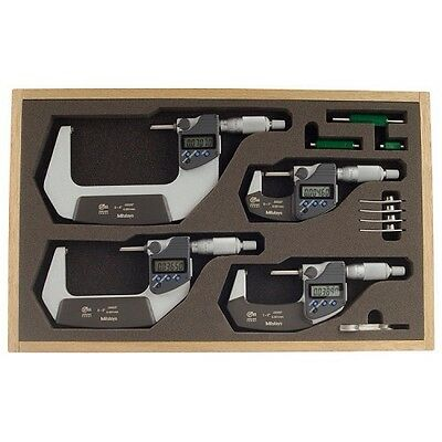 "Mitutoyo 293-961-30 0-4"" Electronic Outside  Micrometer Set .0001 Res. Ip65"