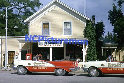 "1956 Oldsmobile Super 88's Glen Haven MI 8"" x 12"" photo from Aug64-dated slide"