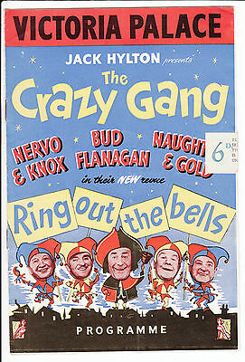 Victoria Palace Programme - Crazy Gang Ring Out The Bells  - Bud Flanagan