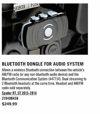 Can-Am Spyder RT, ST 2013+ Bluetooth Dongle for Audio System P/N 219400458