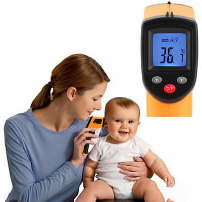 Non-Contact LCD IR Laser Infrared Digital Temperature Thermometer Gun F9