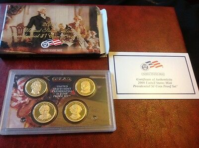 2008 United States Mint Presendential $1 Coin Proof set of coins