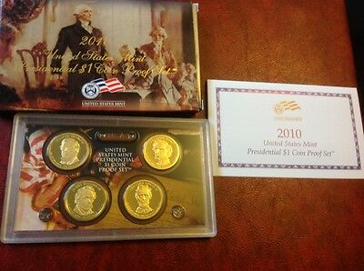2010 United States Mint Presendential $1 Coin Proof set of coins