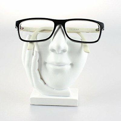 Customizable Face Eyeglasses Holder Stand - Sculpted Nose for Eyeglass or White