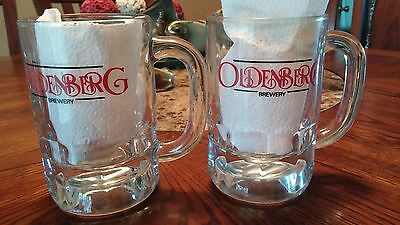 Oldenberg Beer Muds Lot Of 2 Mitchell Ky Pressed Glass Heavy