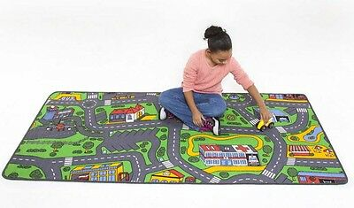 City Life Play Carpet For Kids Skid Proof Latex Floor Rug Play Toy Cars Carpets