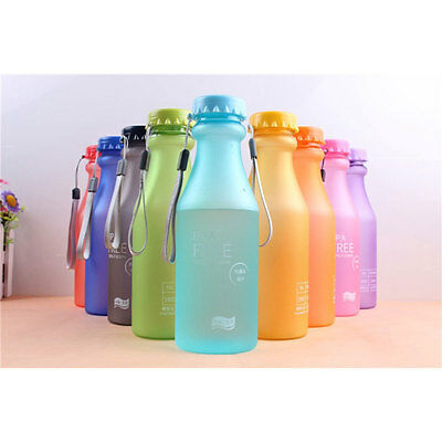 Portable Non Toxic Candy Colors Plastic Tour Sport Water Bottle Flask Drinkwares