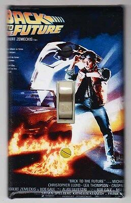 Back to the Future Movie Poster Light Switch Cover Plate Marty McFly Doc Brown