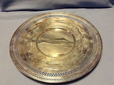 """OLD VINTAGE EPNS Ornate SILVER PLATE Silverplate Platter TRAY RARE 10"""""""