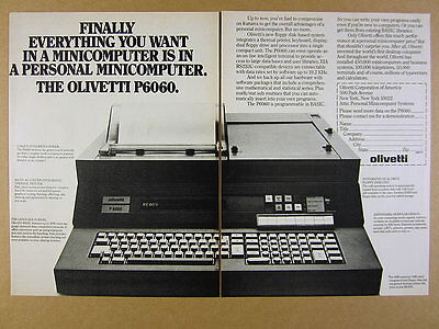 1977 Olivetti P6060 P-6060 Computer photo 2 page vintage print Ad