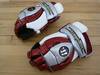 "NEW Warrior Maroon Star Goalie 13"" Lacrosse Goalie Gloves Retail $140"