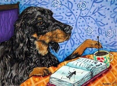 gordon setter COFFEE dog art PRINT 11x17 glossy photo JSCHMETZ