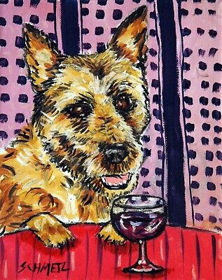 BELGIAN shepherd wine dog PRINTS 11x17 impressionism animals gift new signed art
