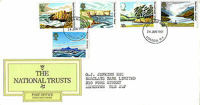 24 June 1981 National Trusts Post Office First Day Cover London N1 Fdi