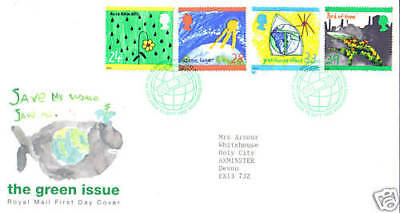 15 September 1992 The Green Issue Royal Mail First Day Cover Bureau Shs